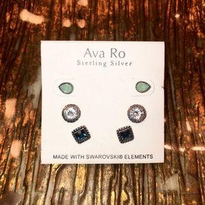 NEW! Ava Ro Delicate Confetti Stone Earrings